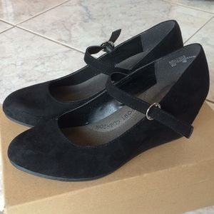 Jellypop Emlynne Faux Suede Mary Jane Low Wedges